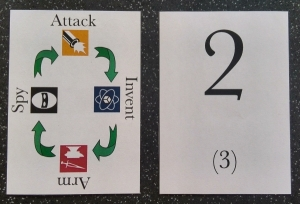 Matt's version of the cards using clip art, used through most of testing