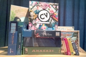 My collection from Essen, with CV taking pride of place
