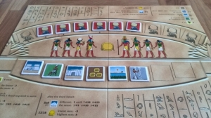 Ra board in play (except there would also be a bidding chit in the yellow centre space)